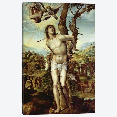 St. Sebastian  Canvas Print #BMN1277} by Giovanni Antonio Bazzi Sodoma Canvas Wall Art