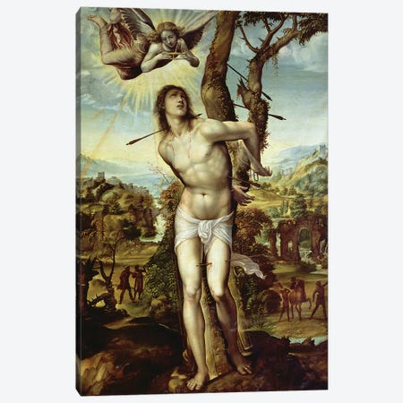 St. Sebastian  Canvas Print #BMN1277} by Giovanni Antonio Bazzi Sodoma Canvas Wall Art