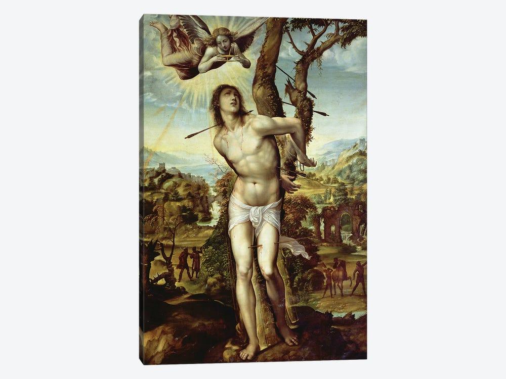 St. Sebastian  by Giovanni Antonio Bazzi Sodoma 1-piece Canvas Artwork