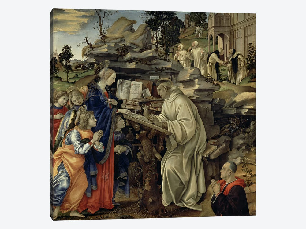 The Vision of St. Bernard, c.1485-87  by Filippino Lippi 1-piece Art Print