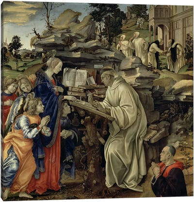 The Vision of St. Bernard, c.1485-87  Canvas Art Print