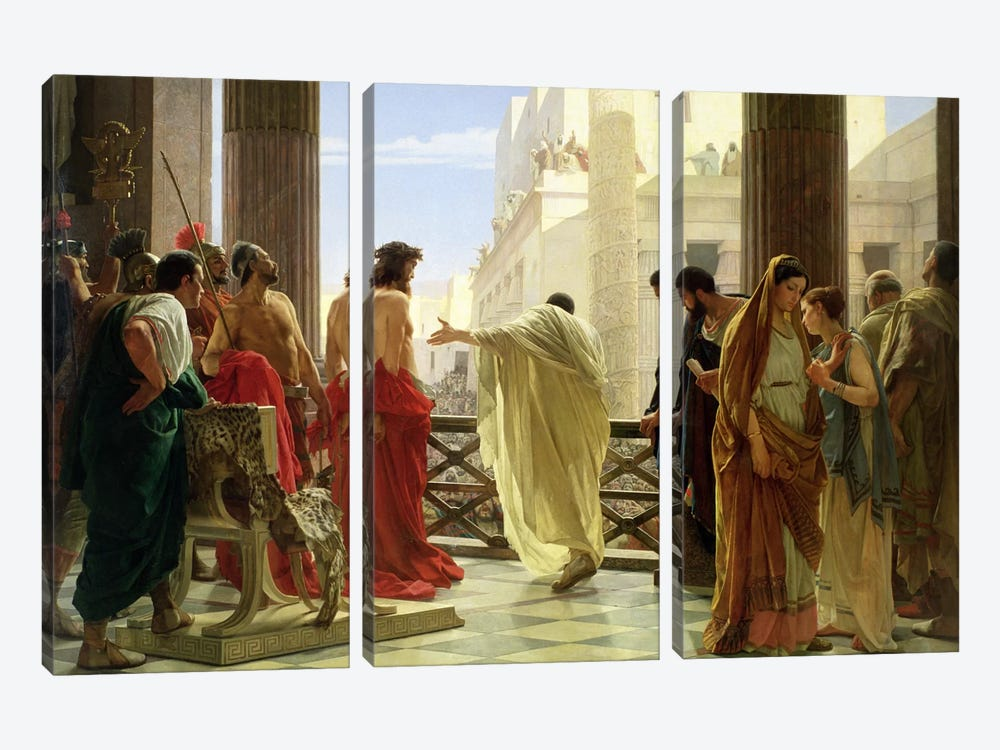 Ecce Homo  by Antonio Ciseri 3-piece Art Print