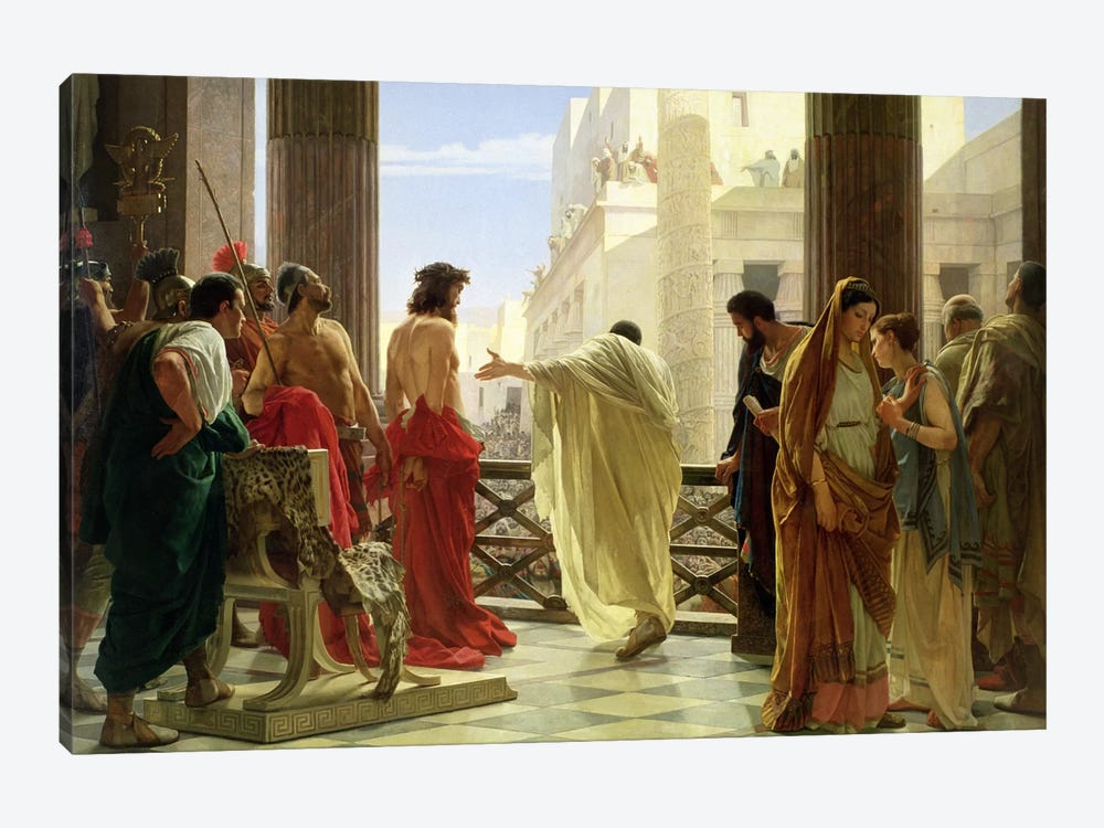 Ecce Homo  by Antonio Ciseri 1-piece Canvas Art Print