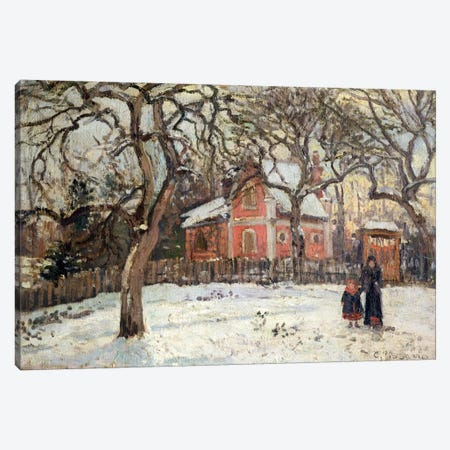 Chestnut Trees at Louveciennes, c.1871-2  Canvas Print #BMN1285} by Camille Pissarro Canvas Print