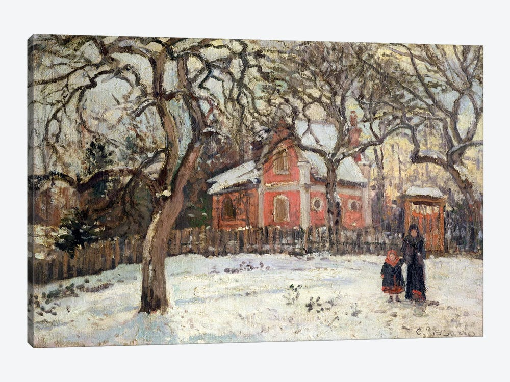 Chestnut Trees at Louveciennes, c.1871-2  by Camille Pissarro 1-piece Art Print