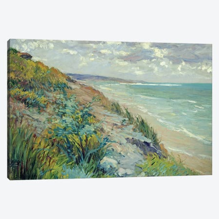 Cliffs by the sea at Trouville  Canvas Print #BMN1288} by Gustave Caillebotte Canvas Artwork