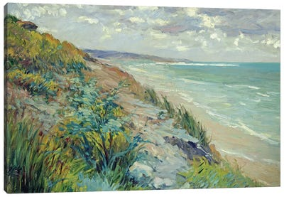Cliffs by the sea at Trouville  Canvas Art Print