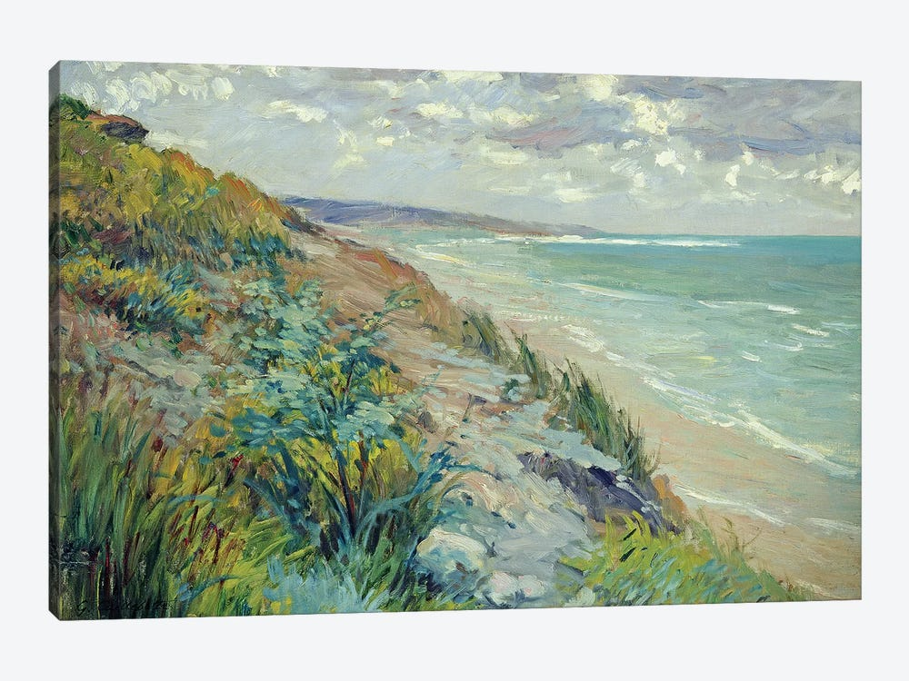 Cliffs by the sea at Trouville  by Gustave Caillebotte 1-piece Canvas Artwork