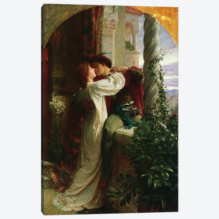 Romeo and Juliet, 1884  Canvas Print #BMN1289} by Sir Frank Dicksee Canvas Artwork
