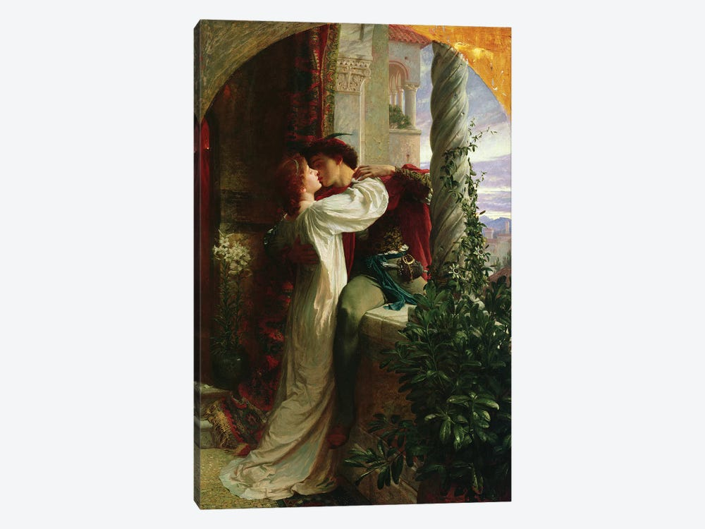 Romeo and Juliet, 1884  by Sir Frank Dicksee 1-piece Canvas Art Print