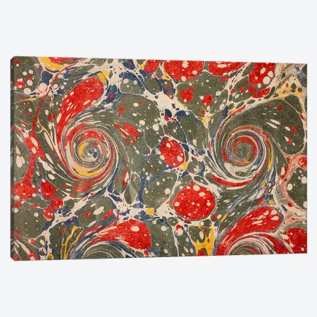 Decorative end paper (colour litho) Canvas Print #BMN128} by English School Canvas Print