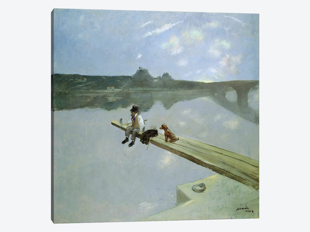The Fisherman, 1884 1-piece Canvas Art Print
