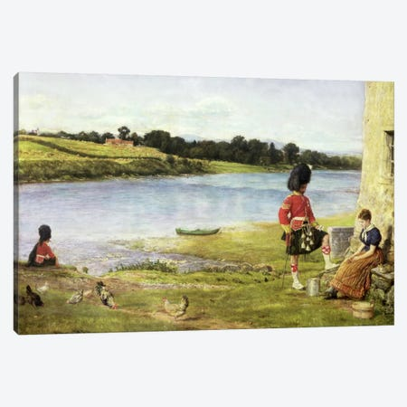 Flowing to the Sea, 1871  Canvas Print #BMN1291} by Sir John Everett Millais Art Print