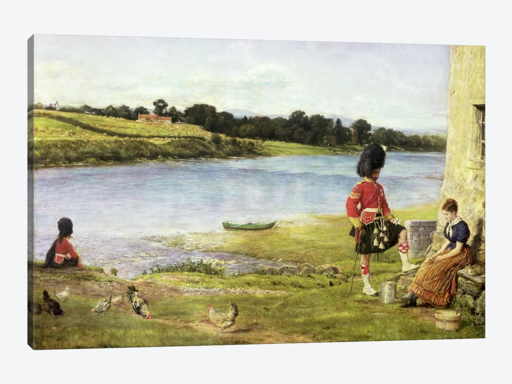 Flowing to the Sea, 1871 by Sir John Everett Millais 1-piece Canvas Art