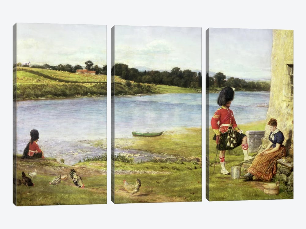 Flowing to the Sea, 1871 by Sir John Everett Millais 3-piece Canvas Artwork