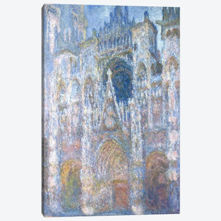 Rouen Cathedral, Blue Harmony, Morning Sunlight, 1894  Canvas Print #BMN1300} by Claude Monet Art Print