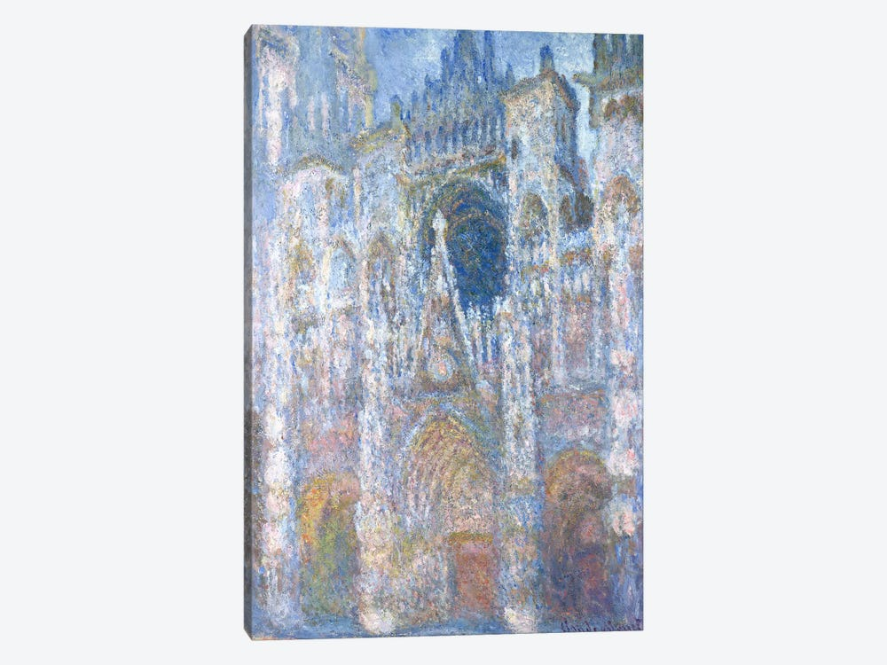 Rouen Cathedral, Blue Harmony, Morning Sunlight, 1894  by Claude Monet 1-piece Canvas Art Print