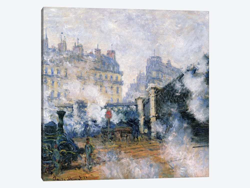 The Pont de l'Europe, Gare Saint-Lazare, 1877  1-piece Canvas Wall Art