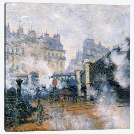 The Pont de l'Europe, Gare Saint-Lazare, 1877  Canvas Print #BMN1301} by Claude Monet Canvas Art Print