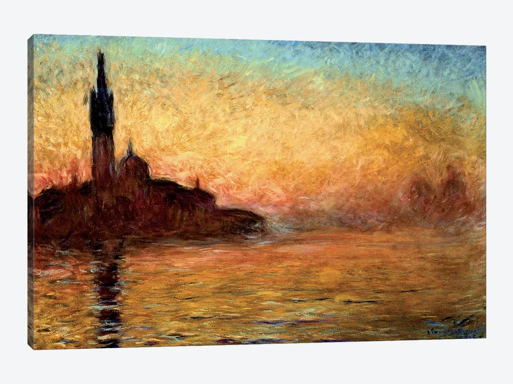 View Of San Girogio Maggiore, Venice By Twilight, 1908 (Bridgestone Museum Of Art) by Claude Monet 1-piece Canvas Print