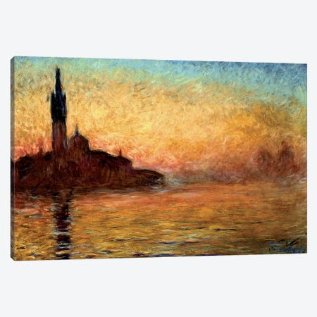 View Of San Girogio Maggiore, Venice By Twilight, 1908 (Bridgestone Museum Of Art) Canvas Print #BMN1302} by Claude Monet Canvas Art Print
