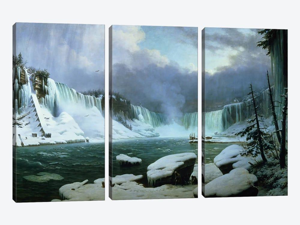 Niagara Falls  by Hippolyte Victor Valentin Sebron 3-piece Canvas Wall Art