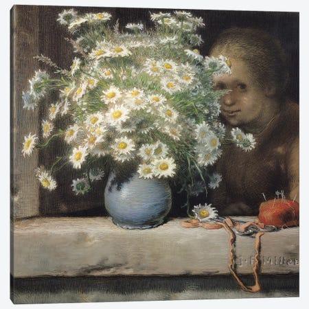 The Bouquet of Margueritas, 1866  Canvas Print #BMN1304} by Jean-Francois Millet Canvas Artwork