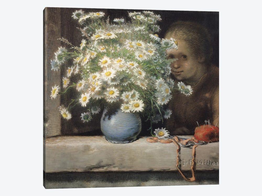The Bouquet of Margueritas, 1866  by Jean-Francois Millet 1-piece Art Print