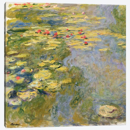 The Waterlily Pond, 1917-19   Canvas Print #BMN1306} by Claude Monet Canvas Art