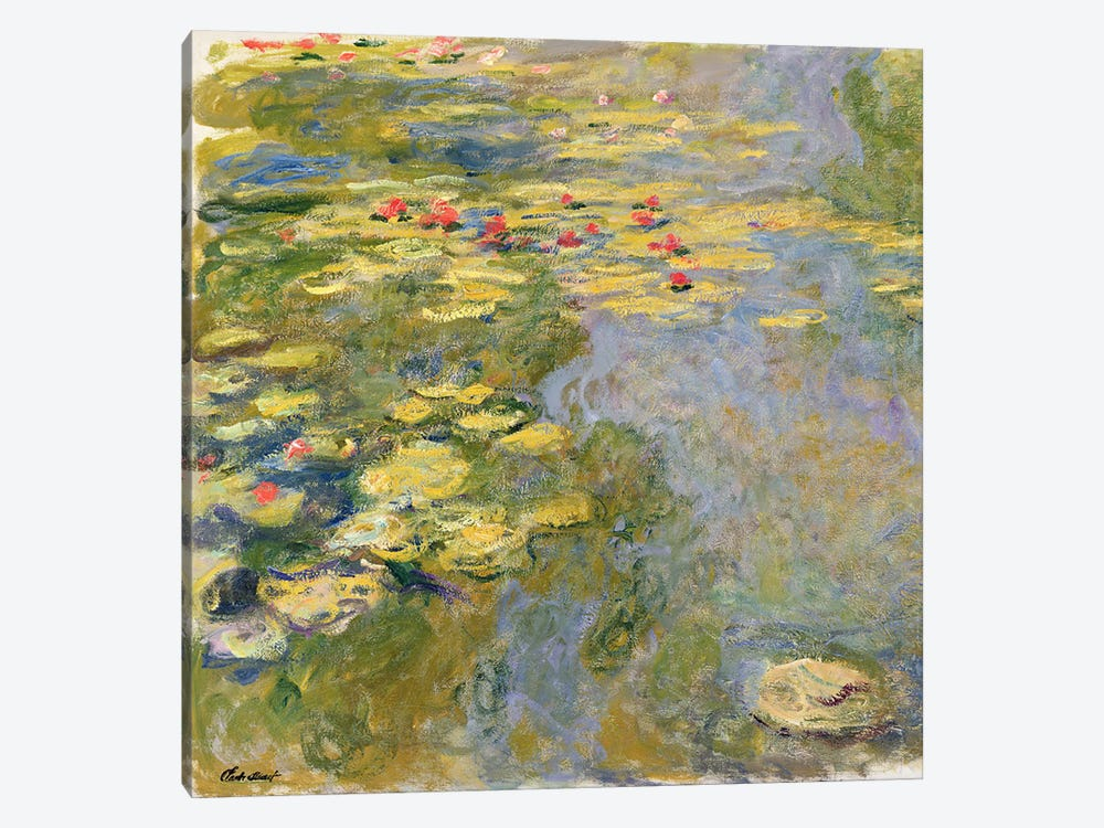 The Waterlily Pond, 1917-19   by Claude Monet 1-piece Canvas Art Print