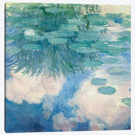 Waterlilies, 1914-17   Canvas Print #BMN1308} by Claude Monet Canvas Print