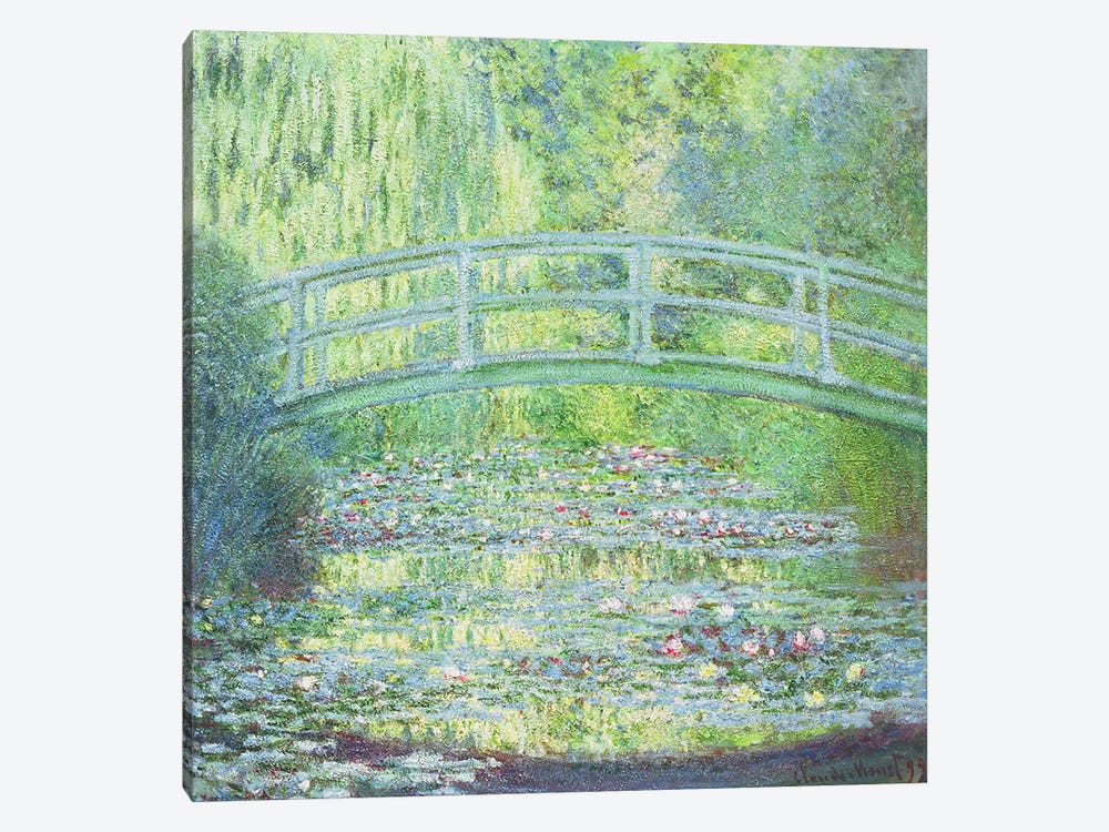 The Waterlily Pond with the Japanese Bridge, 1899 by Claude Monet 1-piece Canvas Art