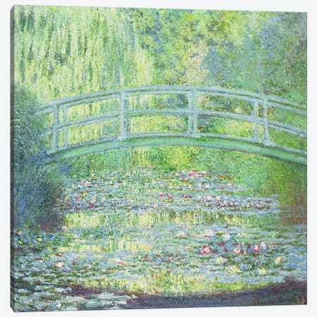 The Waterlily Pond with the Japanese Bridge, 1899 Canvas Print #BMN1309} by Claude Monet Art Print