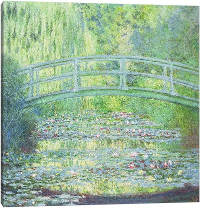 The Waterlily Pond with the Japanese Bridge, 1899 Canvas Print #BMN1309
