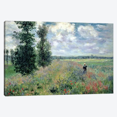 Poppy Fields Near Argenteuil, 1875 Canvas Print #BMN1312} by Claude Monet Canvas Art