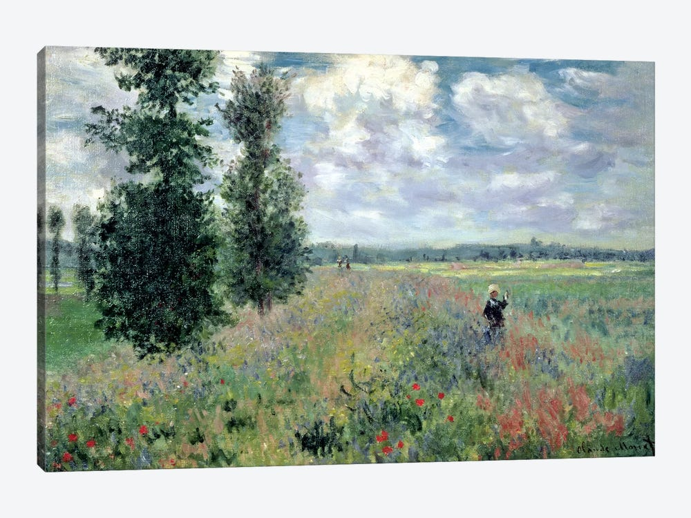 The Poppy field by Claude Monet 1-piece Canvas Wall Art