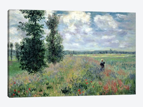 Poppy Fields Near Argenteuil 1875 Canvas Art By Claude Monet Icanvas