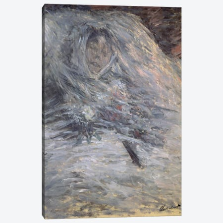 Camille Monet  3-Piece Canvas #BMN1316} by Claude Monet Canvas Art Print