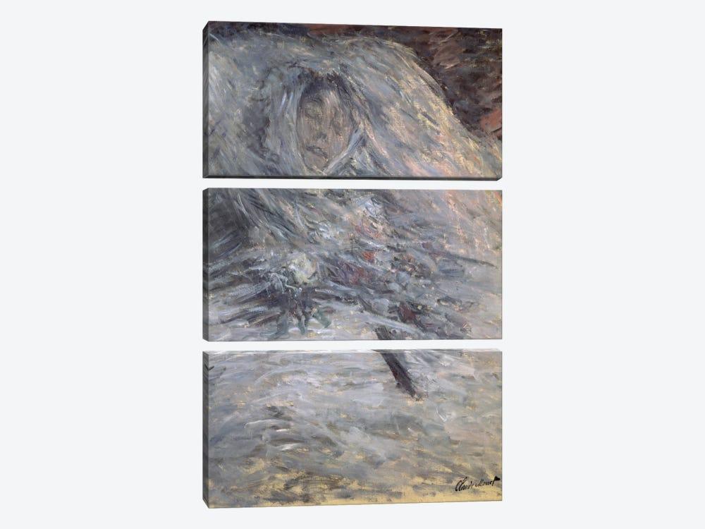 Camille Monet  by Claude Monet 3-piece Canvas Art