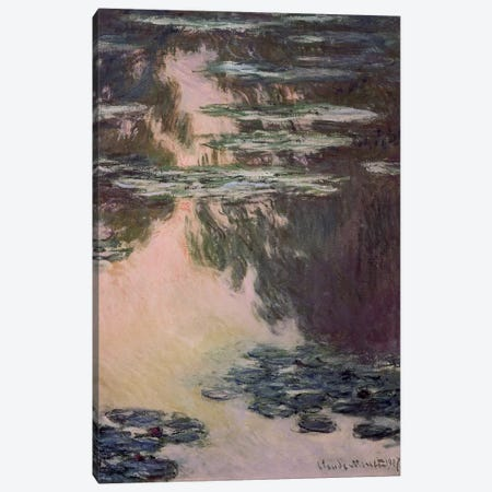 Waterlilies with Weeping Willows, 1907  Canvas Print #BMN1318} by Claude Monet Canvas Wall Art