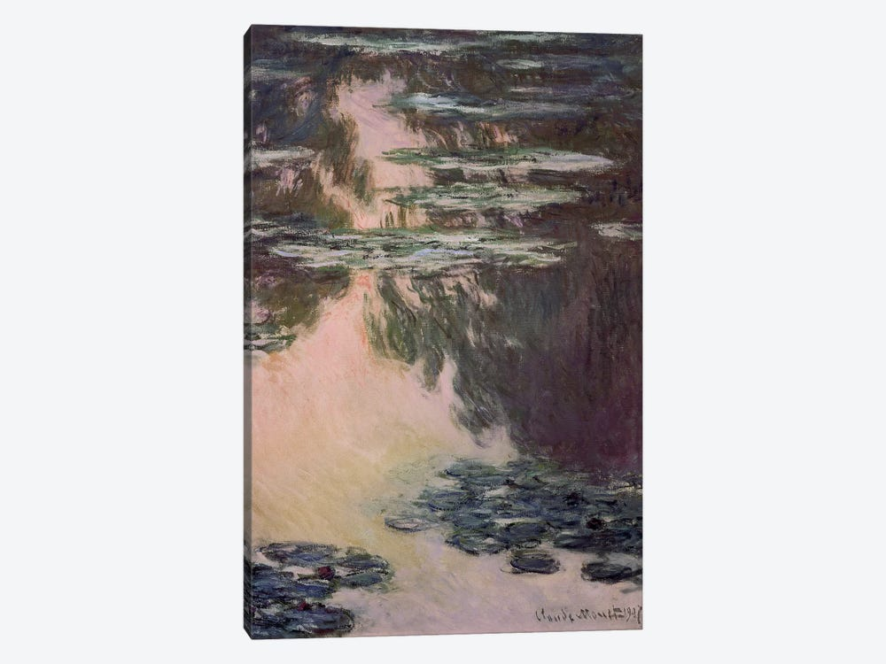 Waterlilies with Weeping Willows, 1907  by Claude Monet 1-piece Canvas Wall Art