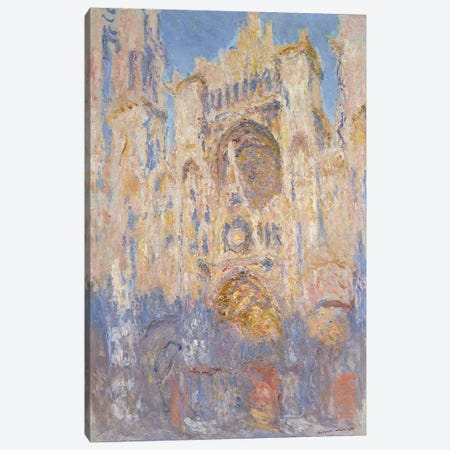 Rouen Cathedral, Effects of Sunlight, Sunset, 1892  Canvas Print #BMN1319} by Claude Monet Canvas Artwork