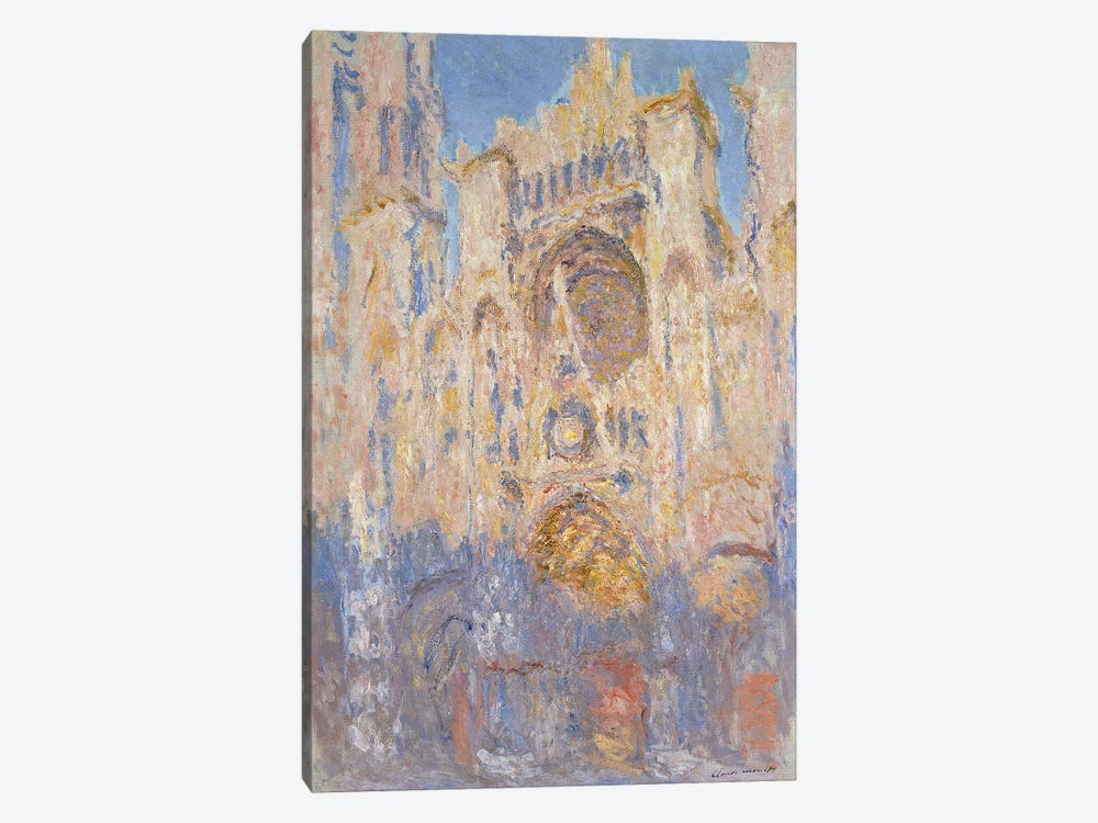 Rouen Cathedral, Effects of Sunlight, Sunset, 1892  by Claude Monet 1-piece Canvas Art Print