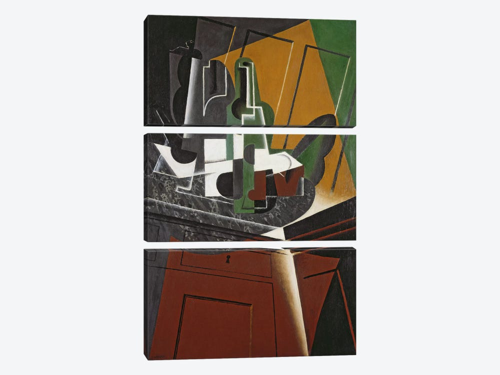 The Sideboard, 1917 (oil on plywood) by Juan Gris 3-piece Canvas Wall Art