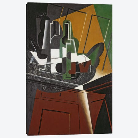The Sideboard, 1917 (oil on plywood) Canvas Print #BMN131} by Juan Gris Canvas Artwork