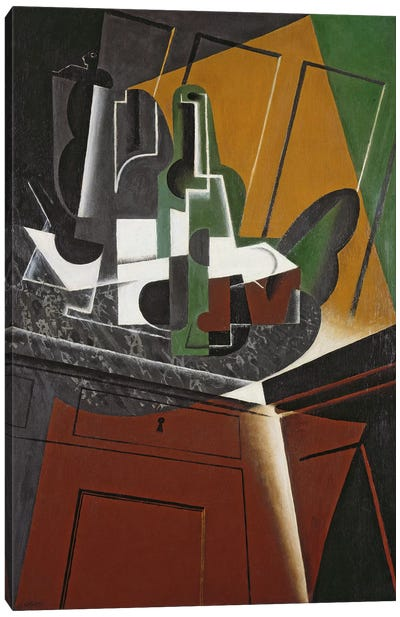 The Sideboard, 1917 (oil on plywood) Canvas Art Print