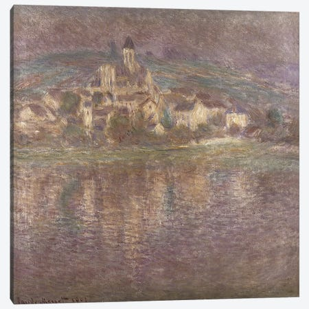Vetheuil, sunset, 1901 Canvas Print #BMN1320} by Claude Monet Art Print