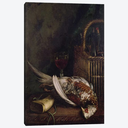 Still Life with a Pheasant, c.1861  Canvas Print #BMN1321} by Claude Monet Canvas Art Print