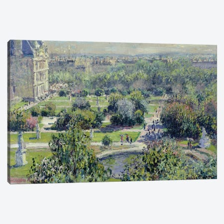 View of the Tuileries Gardens, Paris, 1876  Canvas Print #BMN1322} by Claude Monet Canvas Print