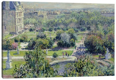 View of the Tuileries Gardens, Paris, 1876  Canvas Art Print